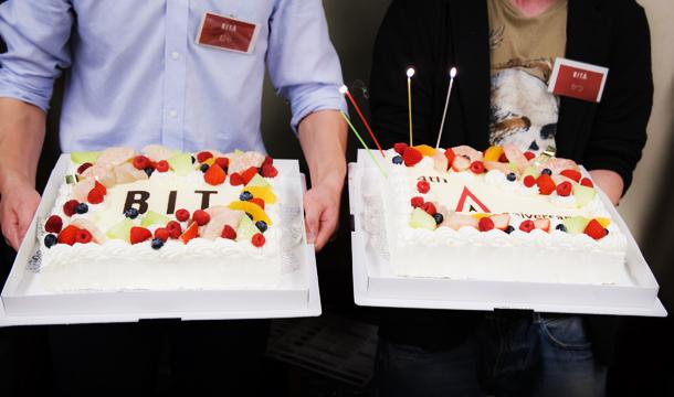 BITAの4歳の誕生日が、キックオフミーティングの翌日ということもあり、ケーキを用意。