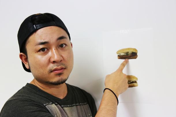 ハンバーガーをダシマス