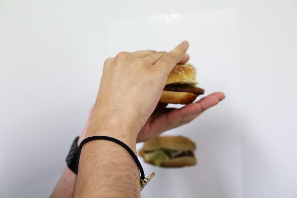 ハンバーガーが、