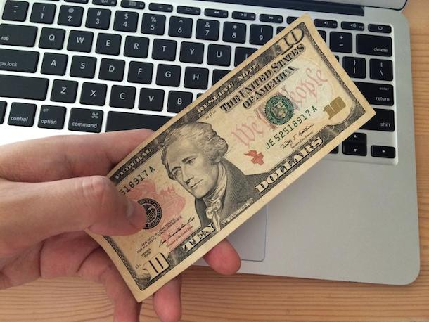 10ドル札で仮想iPhone