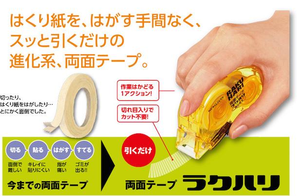 両面テープ ラクハリ|商品情報|コクヨS&T