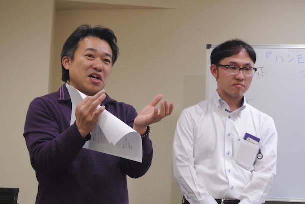 株式会社エイムの山内社長とHARUさん